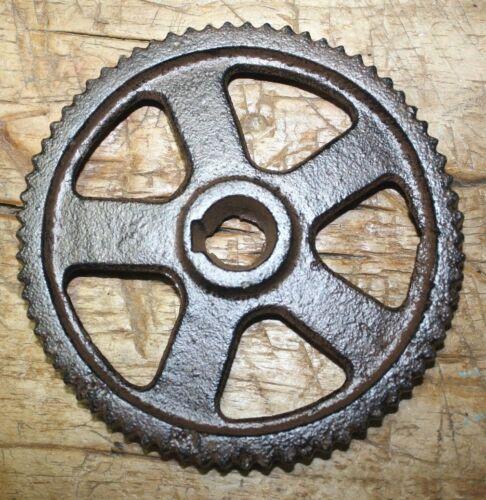 "Cast Iron Industrial GEAR SPROCKET Lamp Base STEAMPUNK 5 3//4/"" Pulley Wheel"