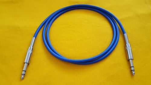"""Mogami 2534 1//4/"""" TRS to 1//4/"""" TRS 6.35mm Stereo Balanced Audio Cable Blue 6 Ft"""