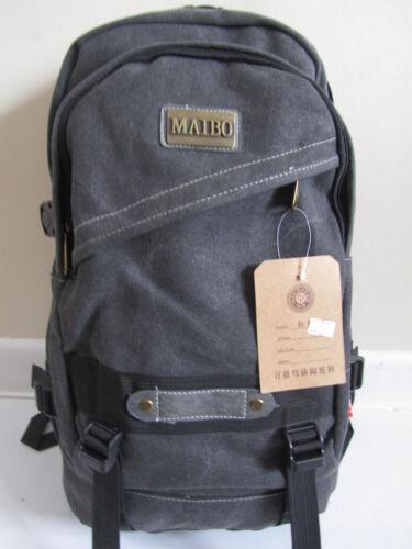 New Men Large Travel Satchel School Canvas Backpack Rucksack Shoulder Bag UK