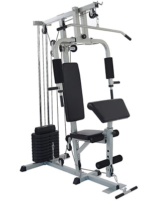 sporzon home gym system workout station with 330lb of