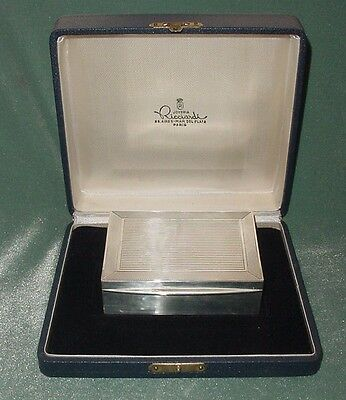STERLING SILVER 925 HALLMARKS CIGARETTE BOX ORIGINAL RICCIARDI PARIS BS AS CASE