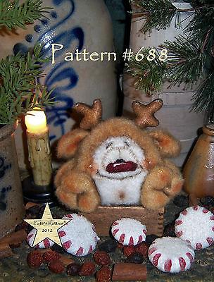 Primitive Patti's Ratties Raggedy Puppy Dog Ornie Doll Paper Pattern #632