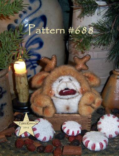 Patti/'s Ratties Primitive Christmas Reindeer Santa Deer Doll Paper Pattern #688