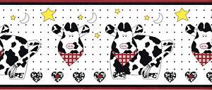 Country-Cows-Barnyard-Farm-Animal-Star-Moon-Heart-Red-Black-Wallpaper-Border