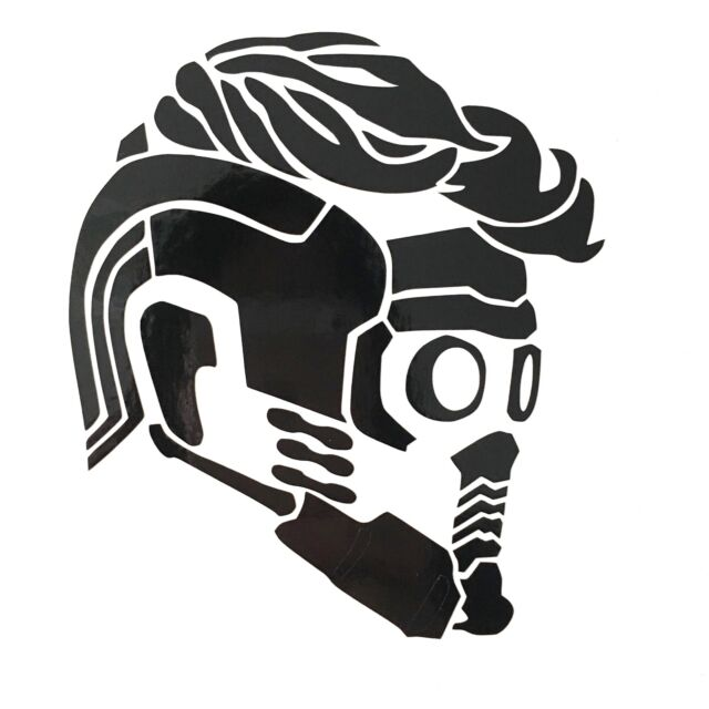 8274fecef Guardians of The Galaxy Starlord Mask Profile Vinyl Decal Sticker for sale  online | eBay