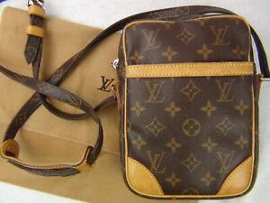 Us Seller Authentic Louis Vuitton Monogram Danube Bag Lv Purse Cross Body Good Ebay