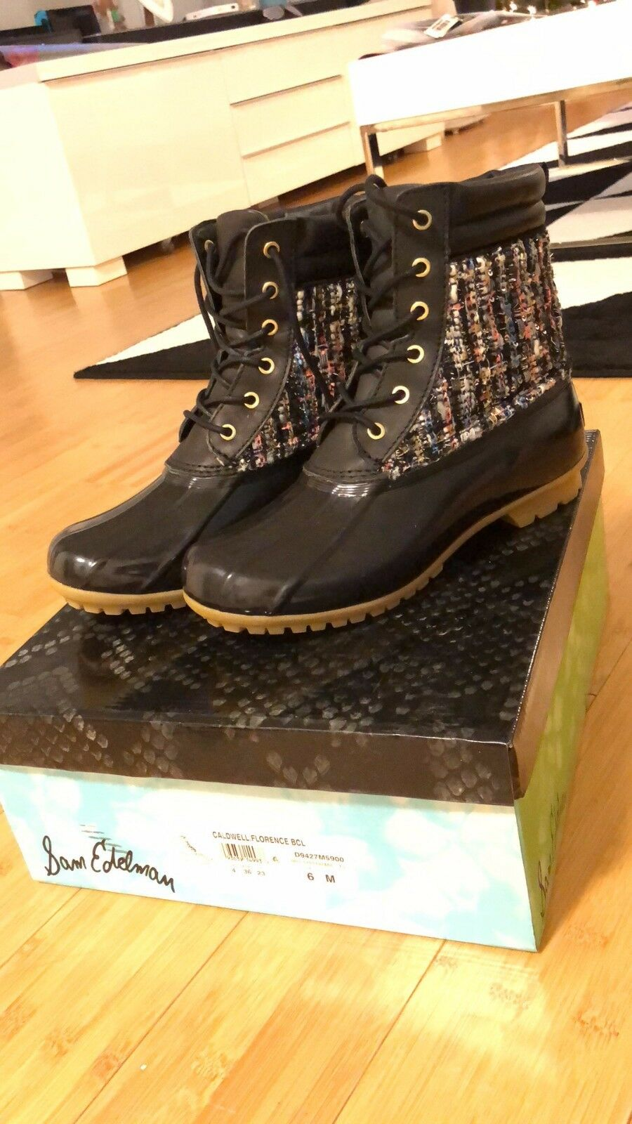 USED Sam Edelman Caldwell Florence Rain Snow Boots Multi Color Women Size 6 M