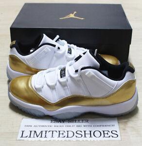 buy online 5831e c102f Image is loading NIKE-AIR-JORDAN-XI-11-RETRO-LOW-GOLD-