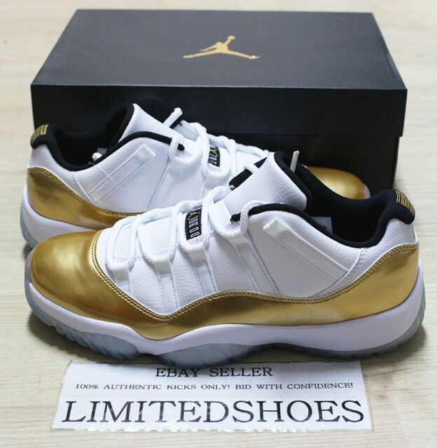 253161a0c2fc NIKE AIR JORDAN XI 11 RETRO LOW GOLD COIN CLOSING CEREMONY 528895-103 US 9