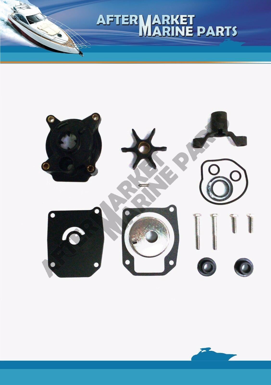 18-3378 439077 391635 Water Pump Impeller Kit Johnson Evinrude 50, 55, 60 HP