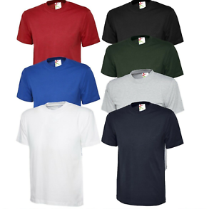 New Mens Womens 100/% Heavy Cotton Premium T-Shirt Blank Casual 200GSM Workwear T