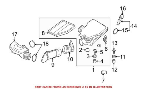 O-Ring 13627553932 For BMW Genuine Fuel Injection Air Flow Meter Gasket