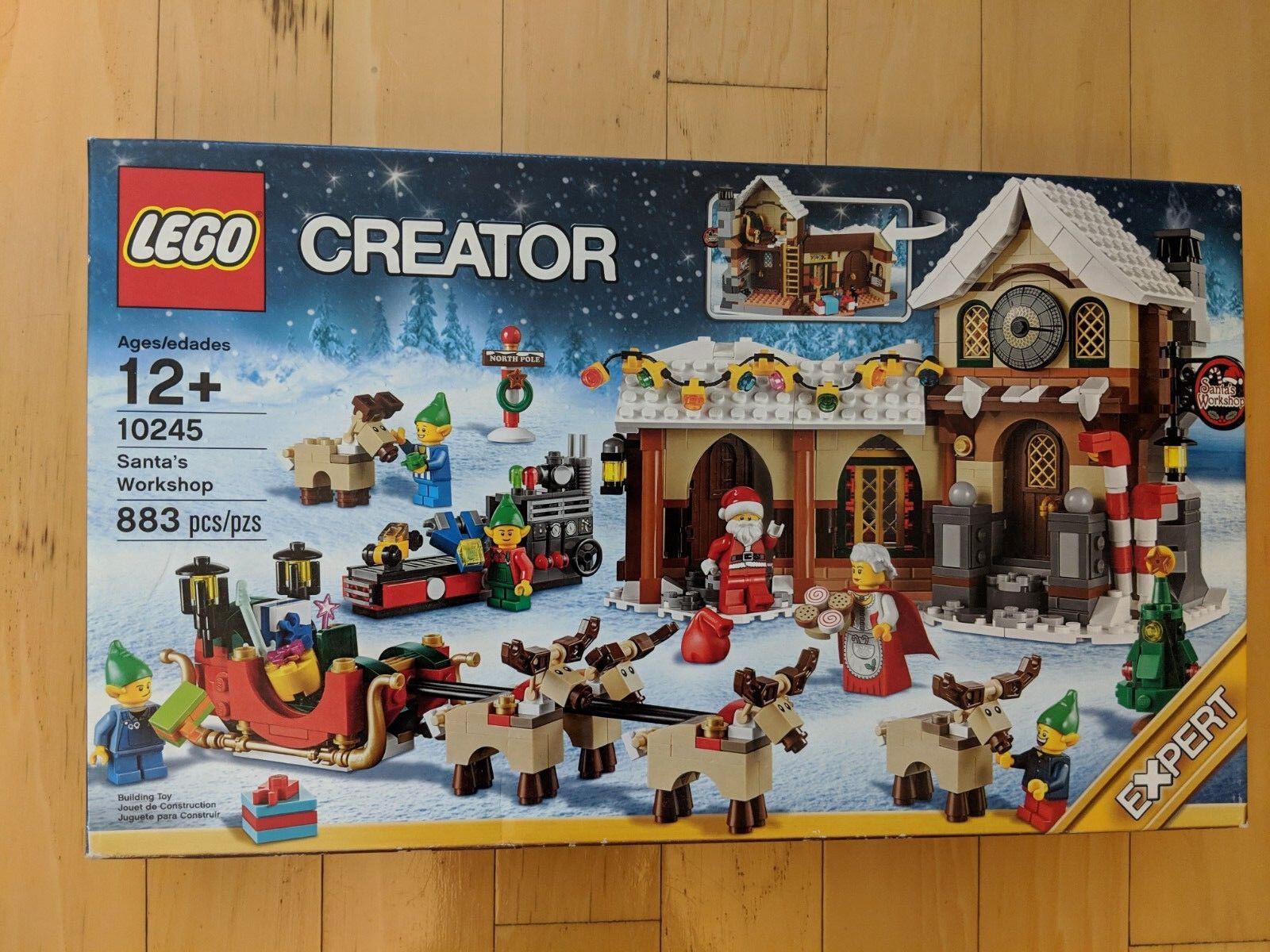 Lego 10245 Santas taller Navidad Invierno retirado barco de prioridad de USPS