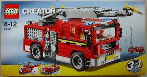 Lego Creator 3 en 1 camion de pompiers 6752 8-12 ans en dehors du catalogue depuis 2011