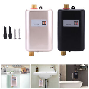 Details About 3400w Electric Tankless Instant Hot Water Heater Under Sink Tap Kitchen Bathroom