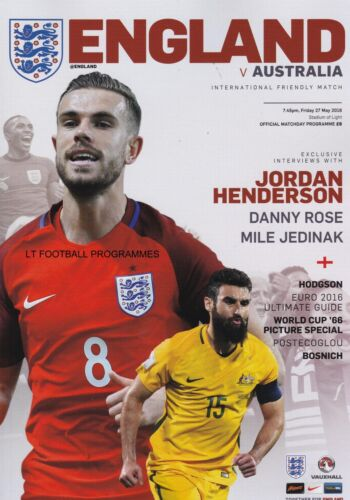 2016 ENGLAND v AUSTRALIA INTERNATIONAL FRIENDLY SUNDERLAND 27 May 2016