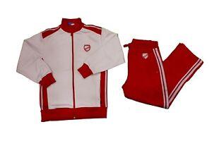 Completo-tuta-da-ginnastica-bambino-rosso-bianco-Asics-sport-casual-zip-moda