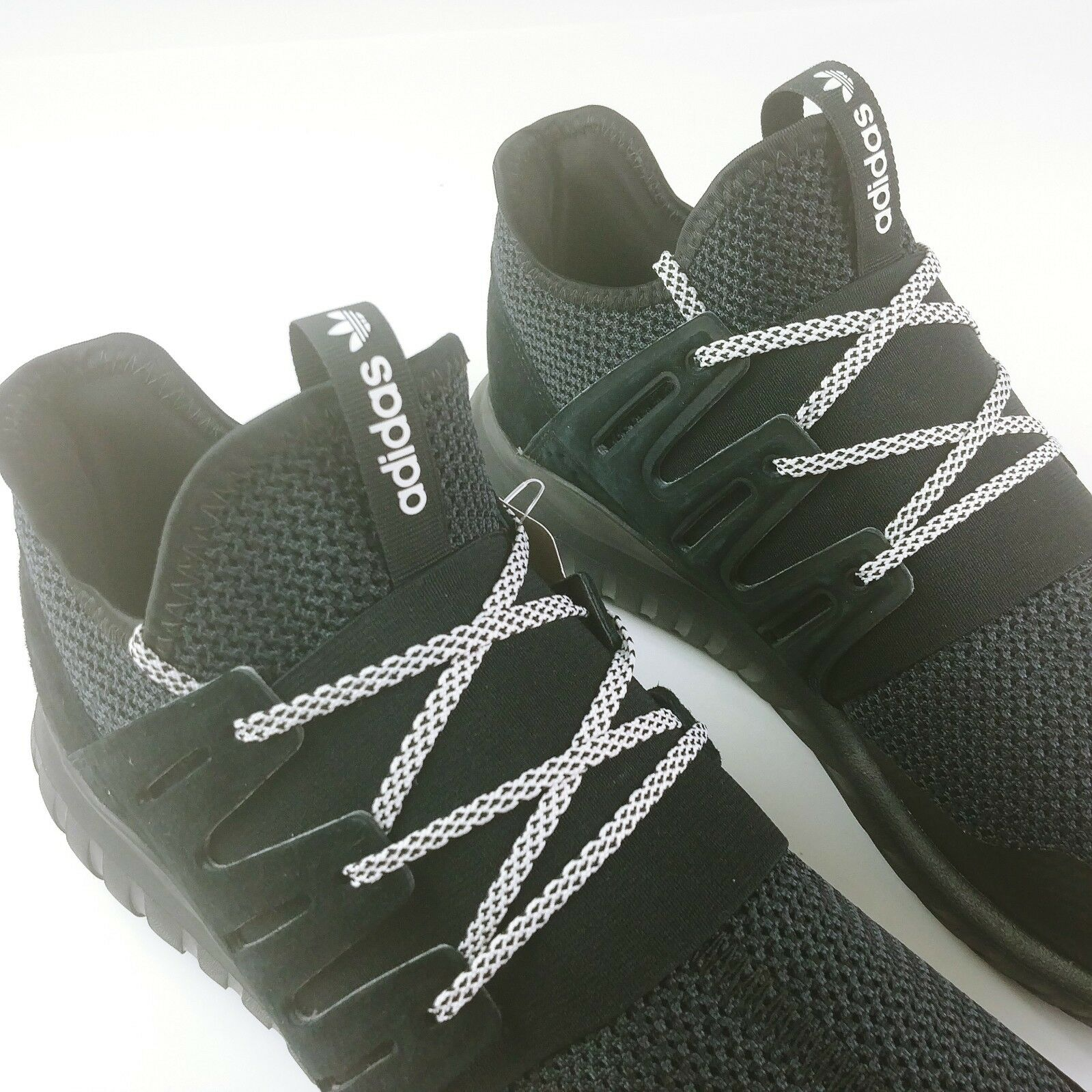 eaadbc086 ... Adidas Tubular Radial Men s Running shoes Core Core Core Blk Vintage  Whte S76719 Sz 11.5 13fb0f ...