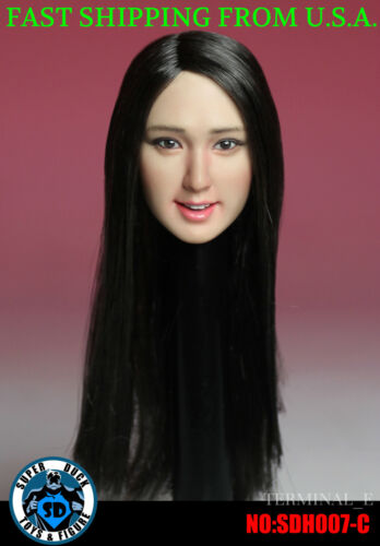 1//6 Female Head Sculpt SDH007C SUPERDUCK For Hot Toys Phicen Female Figure ❶USA❶