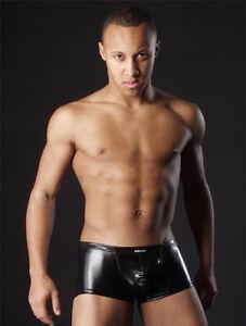 Mens-Faux-Leather-PVC-Boxer-Shorts-Size-Small-Medium-large-Gay-Fetish-underwear