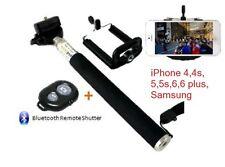 iPhone 5s 6 6s 7 Plus Brazo extensible + Bluetooth Shutter Remoto Telescópico