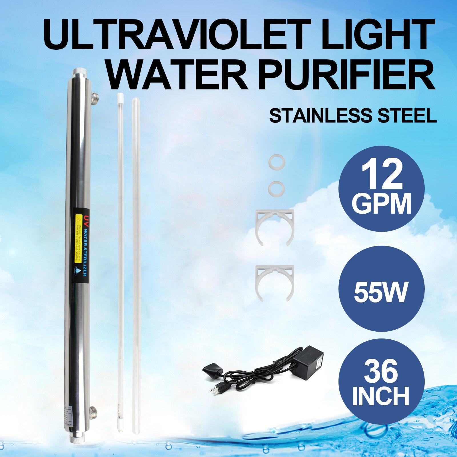 Ultrapurple Light Water Purifier UV Sterilizer 55W Reverse Osmosis + Extra Bulb