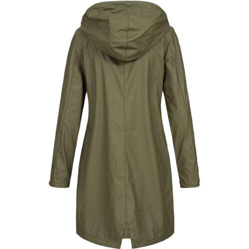Damen Kapuzejacke Windjacke Windbreaker Jacke Outdoor Mantel Langarm Hoodie 48