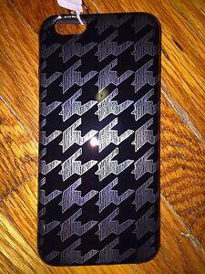 NWT J Crew iPhone 6 Cover Case Flexible Skin Bumper Black Metallic Silver