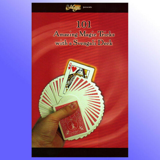Magic Card Tricks 101 Tricks With A Svengali Deck Booklet Close Up Learn How