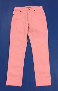 Jeckerson-jeans-uomo-usato-rosa-slim-gamba-dritta-w34-tg-48-boyfriend-panta-T248