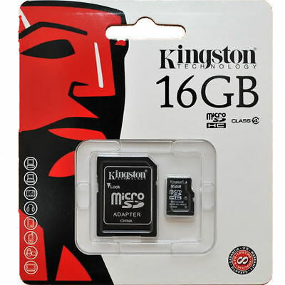. Professional Kingston 16GB MicroSDHC Card for ZTE X Smartphone with custom formatting and Standard SD Adapter. Class 4