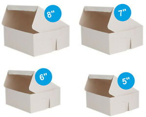 Pack-of-250-x-Cake-Boxes-Fold-Flat-White-Square-Cardboard-Box-Cakes-Cupcakes