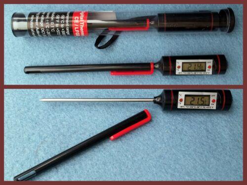 30° bis LCD Braten-Thermometer Temperaturfühler  Fleisch  Wasser 300°