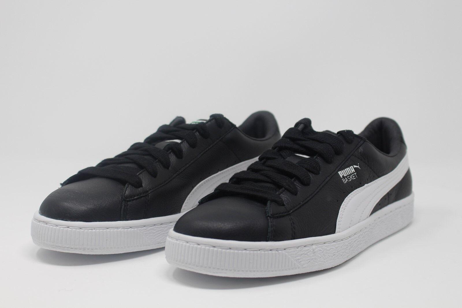 Puma Basket Classic LFS Black/White 354367-21 Sizes 8-14