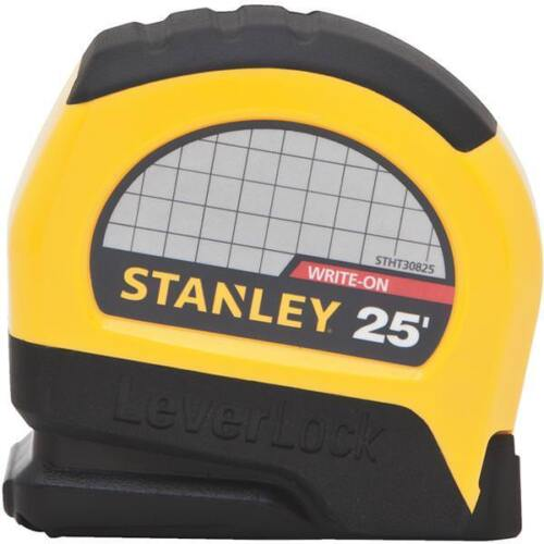 "24Stanley 1"" Wide X 25' SAE Plastic Case LeverLock Tape Measure STHT30825"