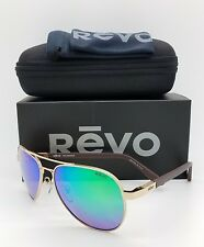 Revo Raconteur RE1011-04 1011-04 GN Gold Polarized Pilot Sunglasses 58mm