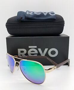 aafd77d05f NEW Revo Raconteur sunglasses RE 1011 GF 04 GN Gold Green Water ...