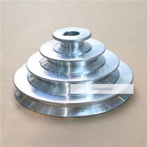 "OD 130mm, 4 Step Pulley 16mm Bore 1/2"" = 12.7mm Belt width - Cast Aluminum #1 ZX"