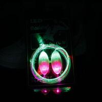 Pair Shiny LED Shoelaces Flash Light Up Glow Stick Strap Shoelaces Disco Party