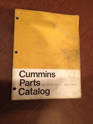 CUMMINS PARTS MANUAL CATALOG DIESEL ENGINE NT 5 1 2 BORE 855 TRUCK SEMI USED EBay