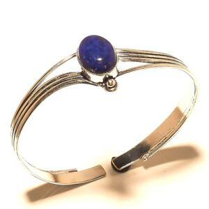 Amazing-Silver-Overlay-Lapis-Lazuli-Cuff-Bracelet-Bangel-Gemstone-Jewelry