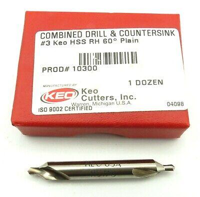KEO #3 Combined Drill /& Countersink 90 degree HSS RH 90 deg Plain