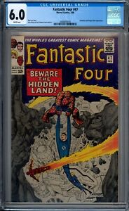 Fantastic-Four-47-CGC-Graded-6-0-FN-White-Pages-Marvel-Comics-1966