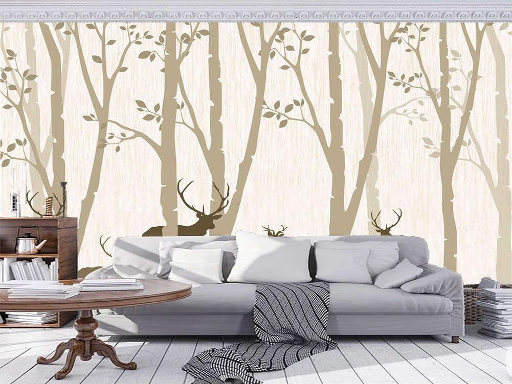 Robust Loyal Tree 3D Full Wall Mural Photo Wallpaper Printing Home Kids Decor