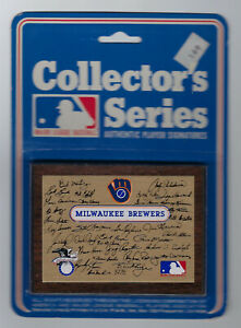 1978-Milwaukee-Brewers-facsimile-Autographed-Plaque-MIP-Robin-Yount-Molitor