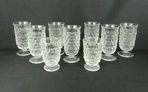 9-Vintage-Fostoria-034-American-034-Footed-Juice-Glasses-7-5-1-2-034-H-2-4-034-H