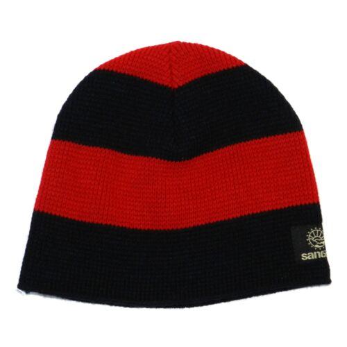 Sancezz Mütze b1011 Beanie Strickmütze blau rot 90085