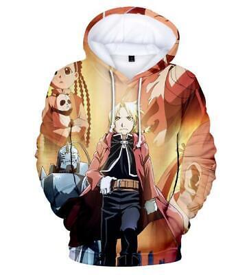 Fullmetal Alchemist Anime Manga Kapuzen Sweatshirt Shirt Hoodie Pillover Pulli