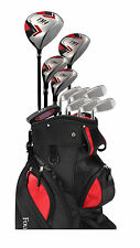 Founders Club Mens Left Handed Golf Club Set - FM4 w/ Cart Bag, Graphite/Steel