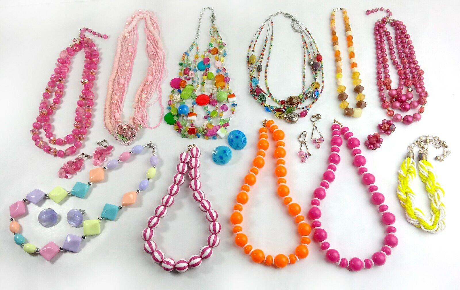 Costume Jewelry Lot Necklaces Bracelet Earrings - image 1